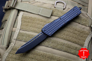 Microtech Combat Troodon Delta Tanto Edge Frag Black OTF with Black DLC HW Nickel Boron Internals 144D-1CT-DS