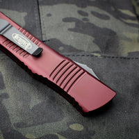 Microtech Combat Troodon Merlot Red Tanto Edge Black Blade 144-1 MR