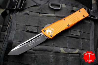 Microtech Combat Troodon Orange Tanto Edge Black Blade 144-1 OR