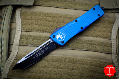 Microtech Combat Troodon Blue Tanto Edge Black Blade 144-1 BL