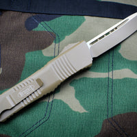 Microtech Combat Troodon Cerakoted Dark Earth Handle and Tanto Edge Blade 144-1 CDE
