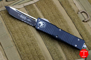 Microtech Combat Troodon Black Tanto Edge with Black Part Serrated Blade 144-2