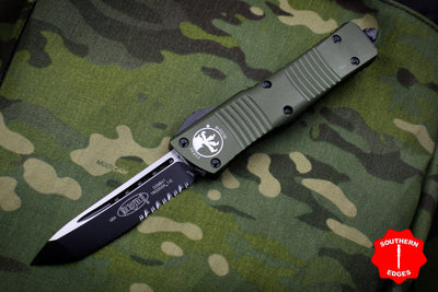 Microtech Combat Troodon OD Green Tanto Black Part Serrated Blade 144-2 OD
