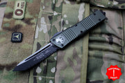 Microtech Combat Troodon OD Green Tanto Edge Black Full Serrated Blade 144-3 OD