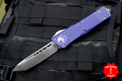 Microtech Combat Troodon Purple Tanto Edge OTF Satin Blade 144-4 PU