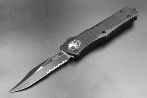 Microtech Combat Troodon Black Bowie Tactical part serrated Black Blade 146-2 T