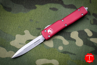 Microtech UTX-70 Red Double Edge (OTF) Stonewash Blade 147-10 RD