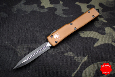 Microtech UTX-70 Tan Double Edge (OTF) Black Blade 147-1 TA