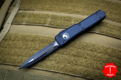 Microtech UTX-70 Black Tactical Double Edge (OTF) Black Body 147-1 T