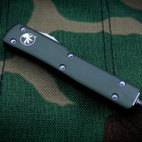 Microtech UTX-70 OD Green Double Edge (OTF) Satin Blade 147-4 OD