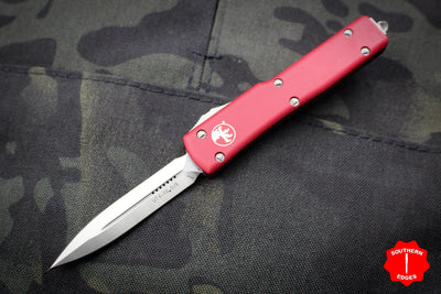 Microtech UTX-70 Red Double Edge (OTF) Satin Blade 147-4 RD