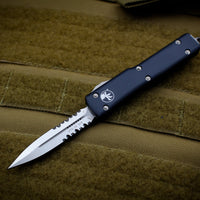 Microtech UTX-70 Black Double Edge (OTF) Part Serrated Satin Blade 147-5