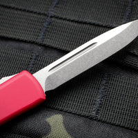 Microtech UTX-70 Red Single Edge (OTF) Stonewash Blade 148-10 RD