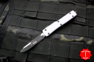 Microtech UTX-70 Gray Single Edge (OTF) Black Blade 148-1 GY