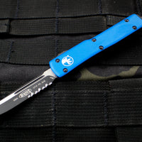 Microtech UTX-70 Blue Single Edge (OTF) Black Part Serrated Blade 148-2 BL