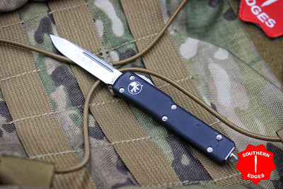 Microtech UTX-70 Black Single Edge (OTF) Satin Blade PROOF RUN 148-4 PR