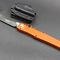 Microtech Orange Halo V Tanto Black Blade 150-1 OR -SCARCE