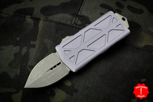 Microtech Exocet Gray Wallet Money Clip Double Edge Out The Front (OTF) Apocalyptic Blade 157-10 APGY