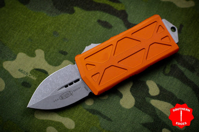 Microtech Exocet Orange Wallet Money Clip Double Edge Out The Front (OTF) Apocalyptic Blade 157-10 APOR