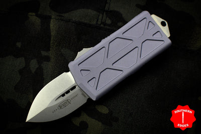 Microtech Exocet Gray Wallet Money Clip Double Edge Out The Front (OTF) Stonewash Blade 157-10 GY