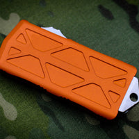 Microtech Exocet Orange Wallet Money Clip Double Edge Out The Front (OTF) Stonewash Blade 157-10 OR