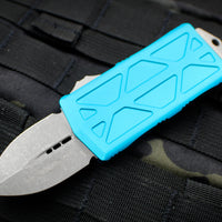 Microtech Exocet Turquoise Wallet Money Clip Double Edge Out The Front (OTF) Apocalyptic Blade 157-10 APTQ