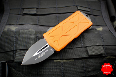 Microtech Exocet Orange Money Clip Double Edge Out The Front (OTF) Knife With Black Blade 157-1 OR