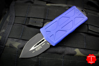 Microtech Exocet Purple Money Clip Double Edge Out The Front (OTF) Knife With Black Blade 157-1 PU