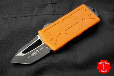 Microtech Exocet Orange Wallet Money Clip Tanto Edge Out The Front (OTF) Black Blade 158-1 OR