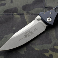 Microtech Socom Elite Single Edge Manual Folder Stonewash Blade 160-10