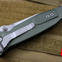Microtech OD Green Socom Elite Single Edge Manual Folder Satin Blade 160-4 OD
