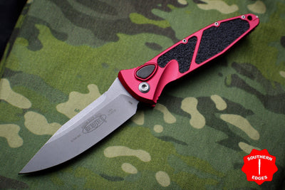 Microtech Socom Elite Red Auto (OTS) Single Edge Folder Apocalyptic Blade 160A-10 APRD