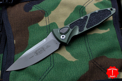 Microtech Socom Elite OD Green Auto (OTS) Single Edge Folder Apocalyptic Blade 160A-10 APOD