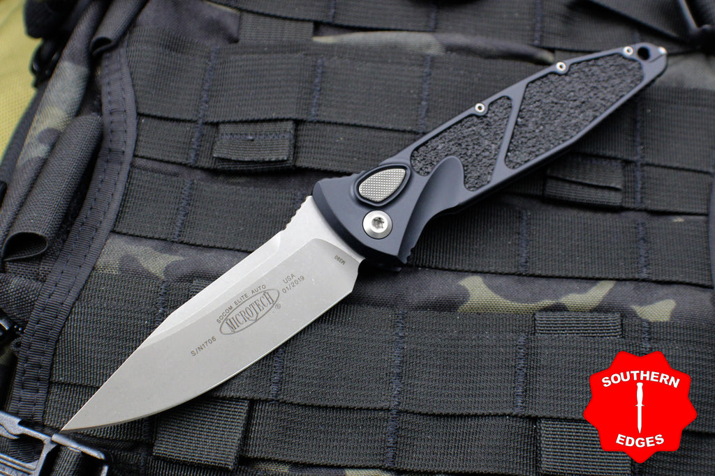 Microtech Socom Elite Auto (OTS) Single Edge Folder Apocalyptic Blade 160A-10 AP