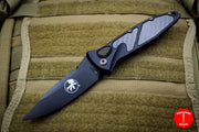 Microtech Signature Series Socom Elite Auto (OTS) Spear Point Carbon Fiber Inlay Black DLC Blade 160A-1 DLCCFIS