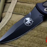 Microtech Signature Series Socom Elite Auto (OTS) Spear Point Black DLC Blade 160A-1 DLCSS