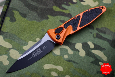 Microtech Orange Socom Elite Auto (OTS) Single Edge Black Blade 160A-1 OR
