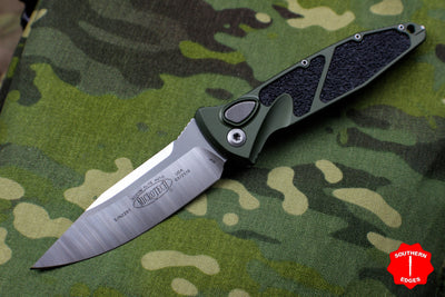 Microtech OD Green Socom Elite Auto (OTS) Single Edge Satin Blade 160A-4 OD