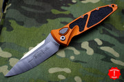Microtech Orange Socom Elite Auto (OTS) Single Edge Satin Blade 160A-4 OR