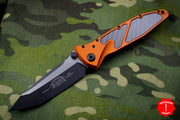 Microtech Socom Elite Orange Tanto Manual Carbon Fiber Inlay Black Blade Black Hardware 161-1 ORCFI