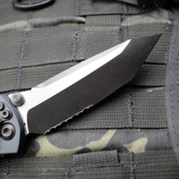 Microtech Socom Elite Tanto Edge Manual Folder Two-tone Black Part Serrated Blade Black Tactical Hardware 161-2 T