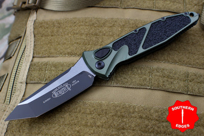 Microtech OD Green Socom Elite Auto (OTS) Tanto Edge Folder Black Blade 161A-1 OD