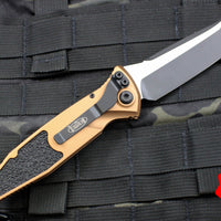 Microtech Tan Socom Elite Auto (OTS) Tanto Edge Folder Black Blade 161A-1 TA