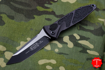 Microtech Socom Elite Tactical Tanto Auto OTS Black Blade Black Hardware 161A-1 T