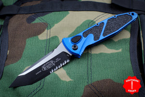 Microtech Socom Elite Auto Blue Tanto Edge OTS Part Serrated Blade 161A-2 BL