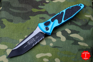 Microtech Socom Elite Auto Turquoise Tanto Edge OTS Part Serrated Blade 161A-2 TQ