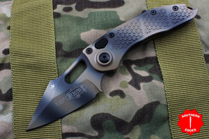 Microtech Stitch Tan Camo Knife Tan Camo Blade 169-1 TC - LAST ONE IN STOCK