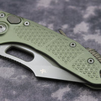 Microtech Stitch Green Knife Part Serrated Green Blade 169-2 GR