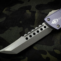 Microtech Combat Troodon Hellhound Gray (OTF) Out the Front Knife with Apocalyptic Blade 219-10 APGY
