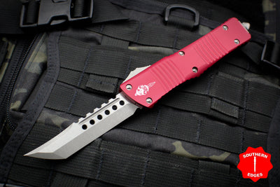 Microtech Combat Troodon Hellhound Red (OTF) Out the Front Knife with Apocalyptic Blade 219-10 APRDS